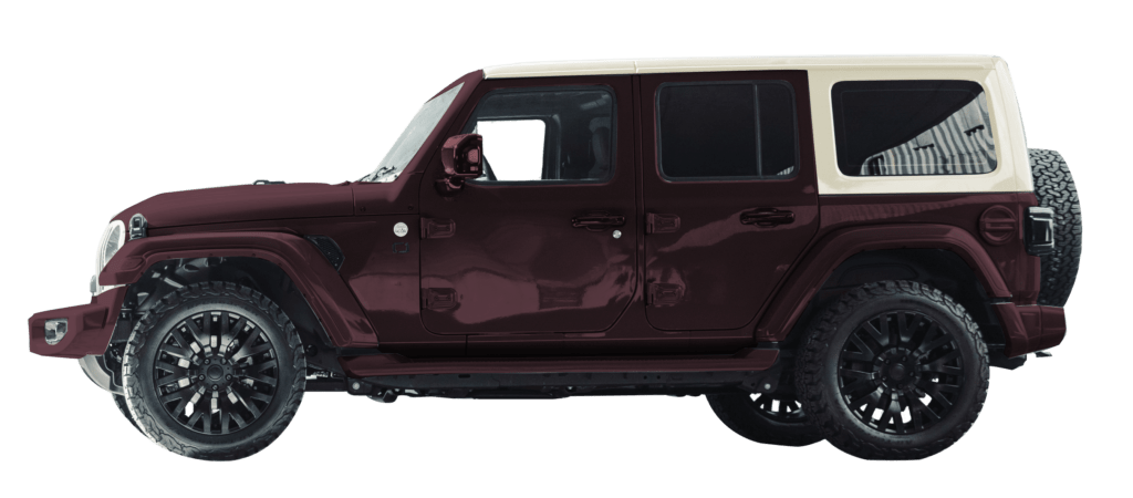 Lenoir Jeep - Dual tone burgundy - vintage white
