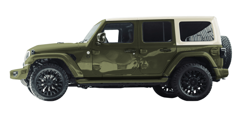 Lenoir Jeep - Dual tone city green - vintage white