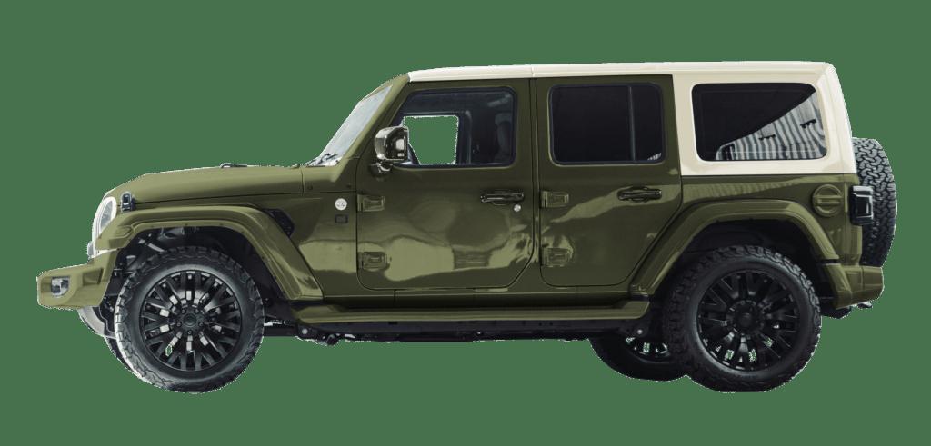 Lenoir Jeep - Dual tone city green - vintage white