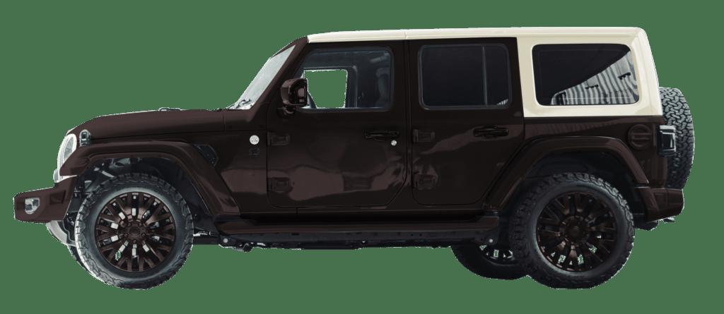 Lenoir Jeep - Dual tone coffee - vintage white