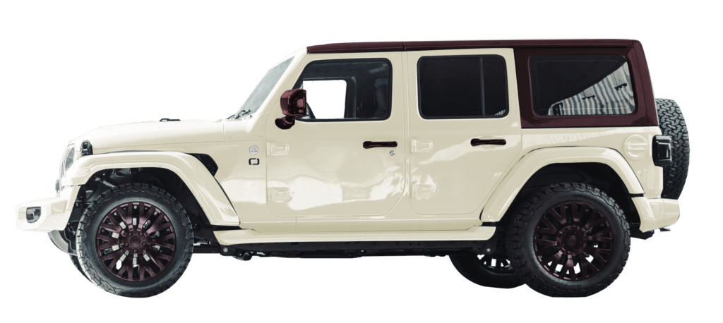 Lenoir Jeep - Dual tone vintage - burgundy