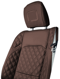 Lenoir Jeep interior - Dark Brown - zetel