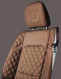 Lenoir Jeep interior - Light Brown - zetel